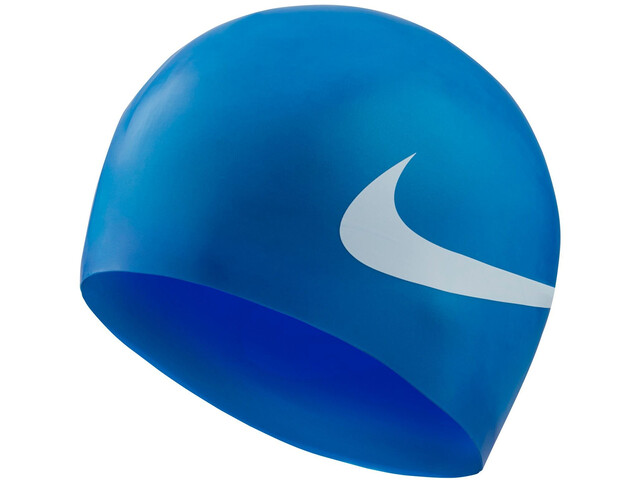 Nike Swim Big Swoosh Printed Bonnet de bain en silicone, game royal